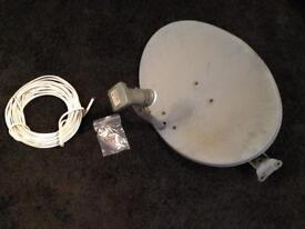 Satellite Dish & 5+ meters of Cable