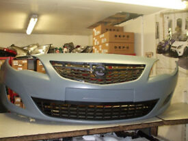 VAUXHALL ASTRA J FRONT BUMPER COMPLETE INC GRILLS 09 10 11 12 REG NEW