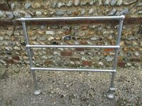 Vintage Chrome Heated Towel Rail Radiator