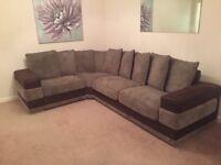 Furniture Village - Brown Corner Sofa - Immacculate Condition
