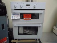 EX-DISPLAY WHITE HOTPOINT BUILT-UNDER DOUBLE OVEN REF: 13522