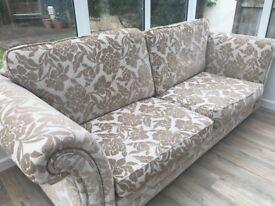 Large 4 seater DFS sofa in cream