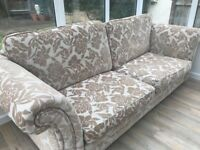 Large 4 seater DFS sofa in cream
