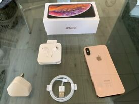Gold Apple Iphone XS 64GB Factory Unlocked To All Networks + Warranty