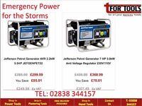 Jefferson Tools Generator. Petrol and diesel Generators available Storm Equipment Emergency power