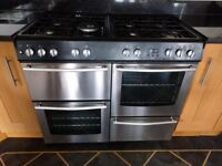 Dual Range cooker in good condition, 100cm wide