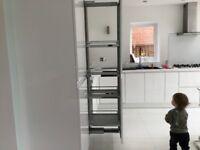 Kitchen larder pullout shelving system, few weeks old, 5 shelves