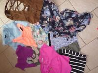 Bundle of womens trendy, high street size 6/8 clothes