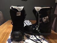 ROME SDS Smith ConFormist mens snowboard boots, size UK 8.5 (Eur 42.2/3)