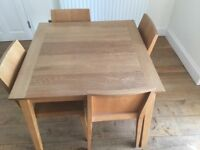 Habitat Ruskin Dining Table and 4 Chairs