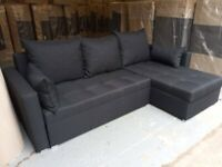 💥Fee Delivery💥 Corner Sofa Bed 💥Brand New💥 BLACK Full Fabric