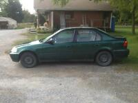 2000 Honda civic with 4 extra rims with snow tires