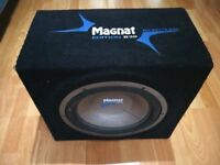 * * * 800w 12 inch sub subwoofer and box 800w Special Edition Magnat Loud * * *