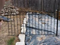 4 Sections of wrought iron fencing for sale