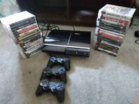 Ps3 with 3 controllers and 37 games