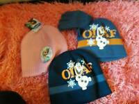 Frozen hats new with tags
