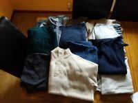A dozen men's jumpers for a fiver!