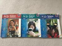 Set of 3 GCSE science revision guides.