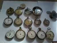WANTED SMITHS INGERSOLL SERVICES POCKET WATCHES WORKING OR NOT