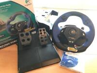 Sony PlayStation 2 plus steering wheel and pedals