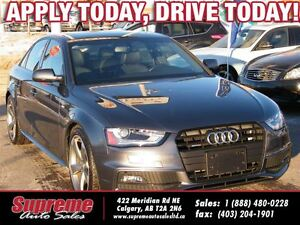 2014 Audi A4 2.0T S-LINE 6SPEED/NAVI/S.ROOF