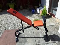 (SOLD - Awaiting Collection)York Barbell, Dumbbells & Weights; Iron Weights Barbell; Pro Power Bench