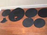 Wokingham Drum Sales - Drum Set Practice Pads - Silencer Set x 7 Pieces