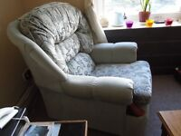 Free: 3 seater settee and matching armchair, very clean and very comfy.