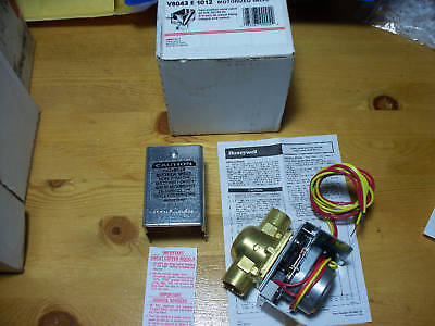 Honeywell V8043e1012 Zone Valve 24vac 34in Copper Sweat Includes End Switch