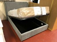 AVAILABLE TODAY New Grey fabric 5ft KING SIZE ottoman storage bed £339 LIMITED STOCK