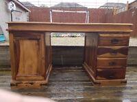 Hardwood desk for sale.