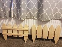 Handmade small fence panels