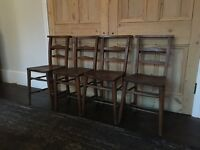 Set of 4 Chapel Chairs