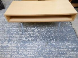 beechwood coffee tv table, hi fi table. can deliver