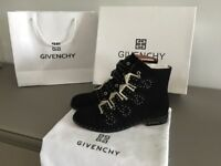 Givenchy Black Suede Boots - Size 4 (37) - Brand New