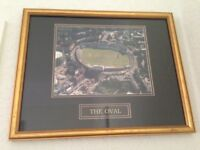 CRICKET MEMORABILIA - Professionally Framed Picture of the OVAL Cricket Ground by ARTIFACTS
