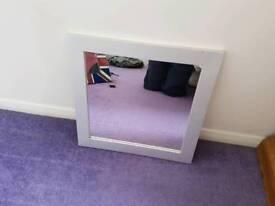 Mirror 45x45cm wooden frame