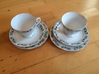 Floral tea cups and saucers