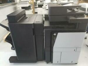 HP Color LaserJet Enterprise flow MFP M880 Printer Copier Finisher Booklet Hole Punch, Copy, Print, Scan USB, A3, 11x17