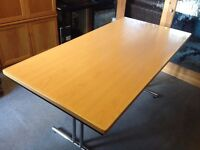 For sale a folding beech top table with chrome legs it is 1600mm x 800mm,. in very good condition,
