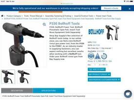 Revert gun Bollhoff in excellent condition.