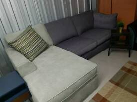 Corner sofa dark/light grey brand new