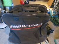 FISHING TROLLEY BAG AND LARGE HOLDALL
