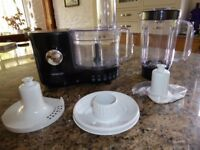 Kenwood food mixer & blender - black - almost new condition - with attachments