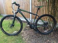 29ER mountain bike, disc brakes, 21 speed, shocks