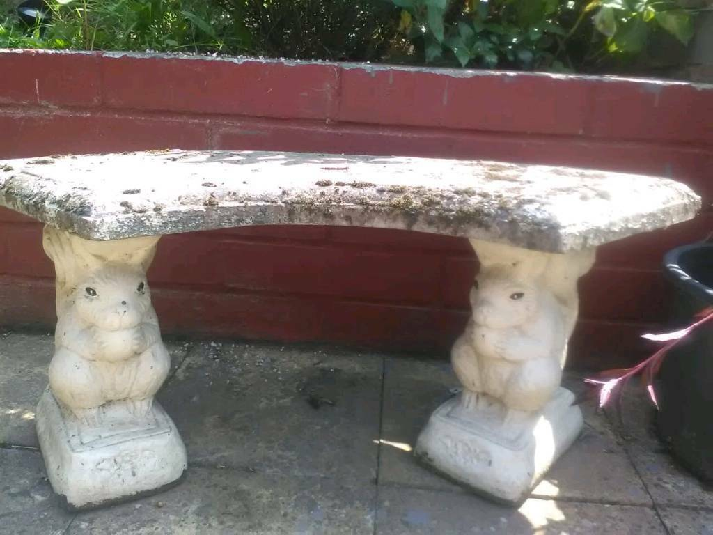 Miraculous Garden Concrete Bench Chair With Squirrel Posts In Kiveton Park South Yorkshire Gumtree Evergreenethics Interior Chair Design Evergreenethicsorg