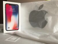 iPhone X 64GB Space Grey Sealed &Unlocked To All Networks