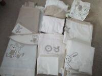 Ollie & Mollie Nursery Set, Bedding, Curtain etc