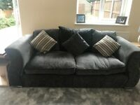 Three seater sofa and large cuddler swivel chair