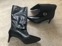 Faith black boots size 7